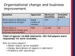organisational change and business improvement1