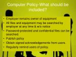 computer policy what should be included1