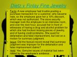 dietz v finlay fine jewelry