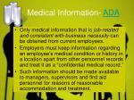 medical information ada