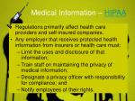 medical information hipaa