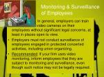 monitoring surveillance of employees