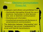 privacy electronic communications privacy act 1