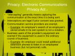 privacy electronic communications privacy act 2
