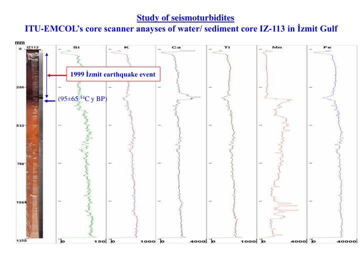 Study of seismoturbidites
