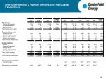interstate pipelines pipeline services 2005 plan capital expenditures