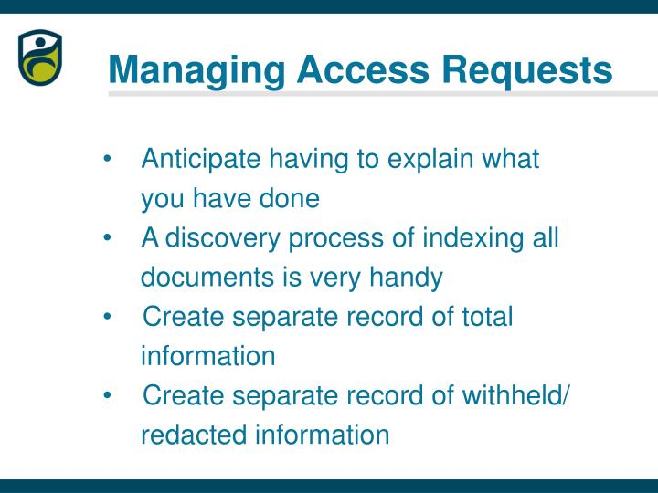 Managing Access Requests