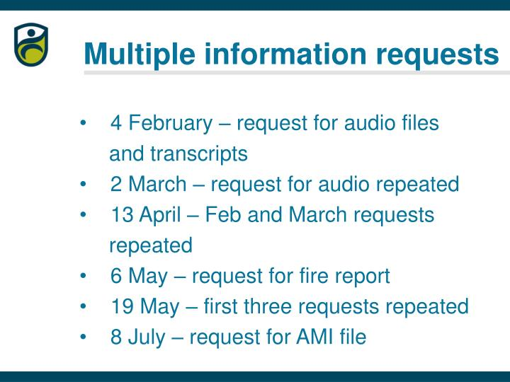 Multiple information requests
