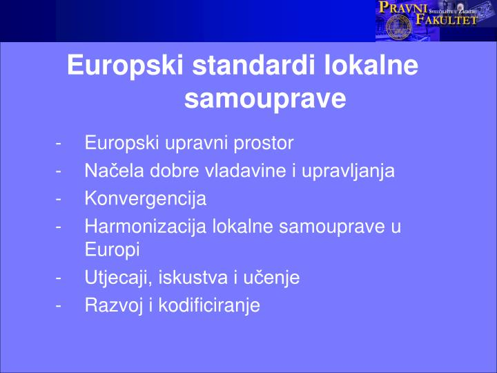 Europski standardi lokalne samouprave