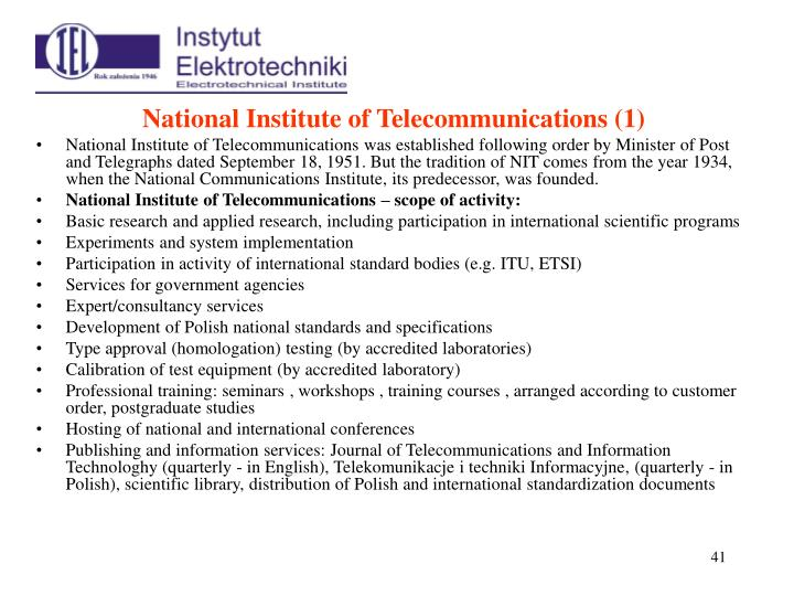 National Institute of Telecommunications