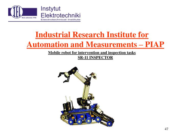 Industrial Research Institute for Automation and Measurements – PIAP