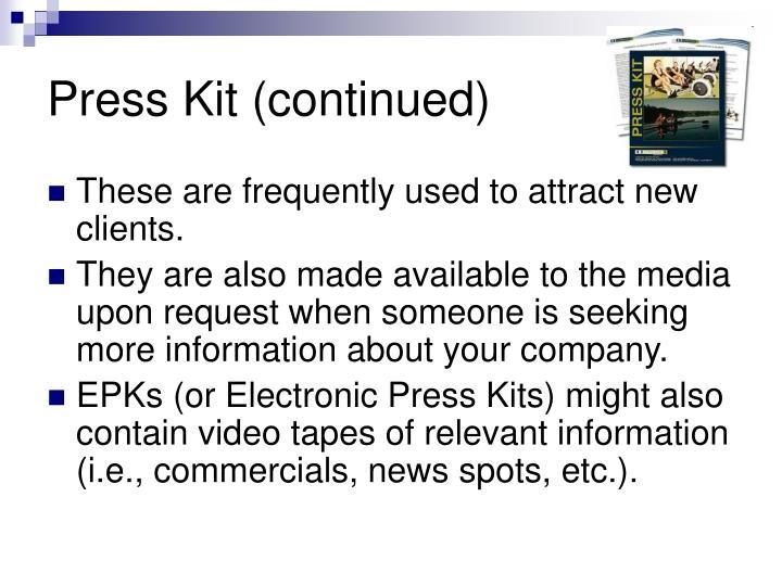 Press Kit (continued)