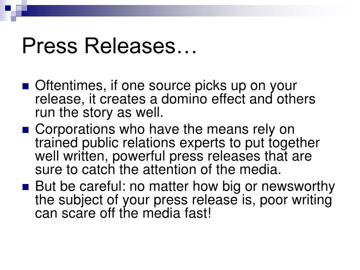 Press Releases…