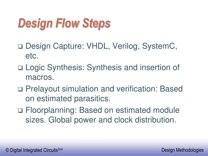 Design Flow Steps