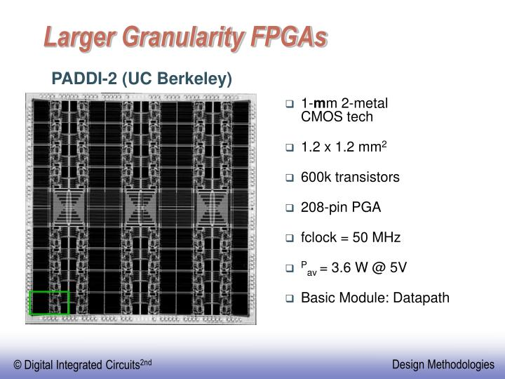 Larger Granularity FPGAs