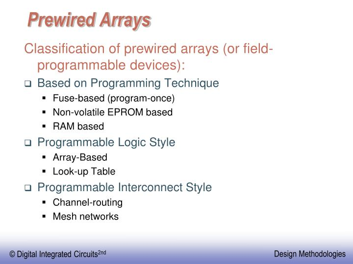 Prewired Arrays