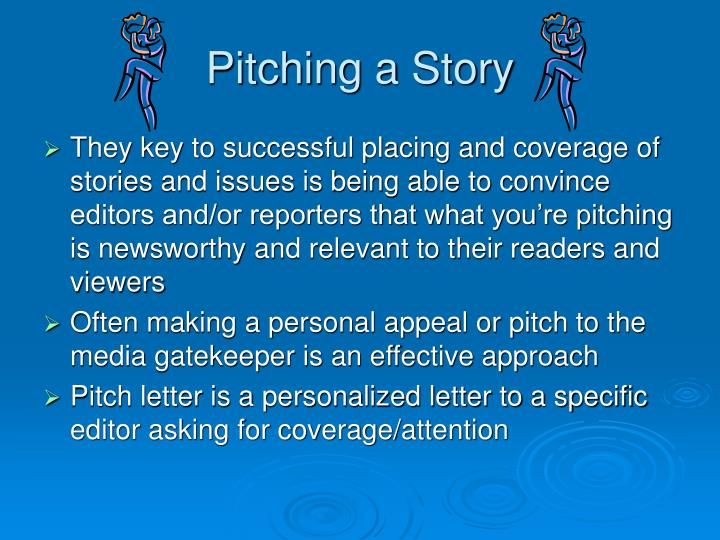 Pitching a Story