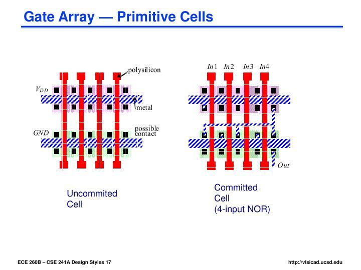 Gate Array — Primitive Cells