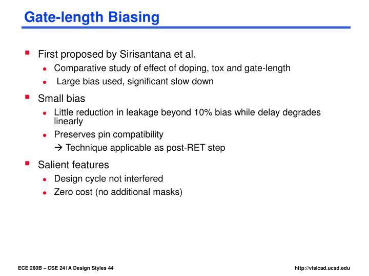 Gate-length Biasing