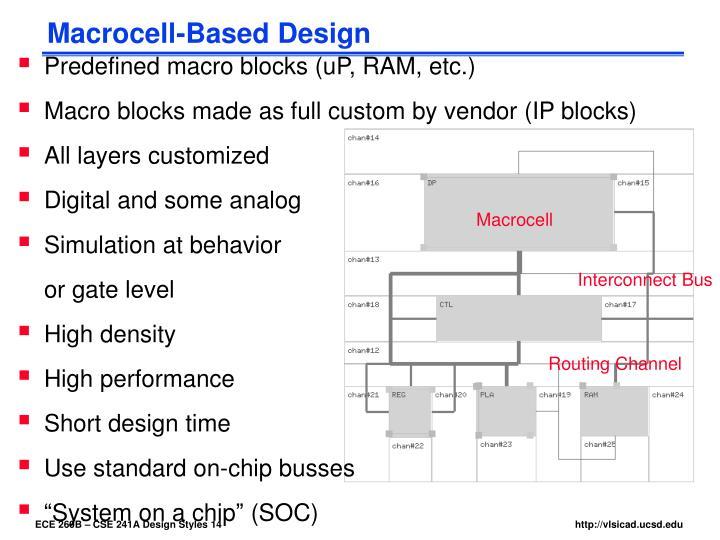 Macrocell-Based Design