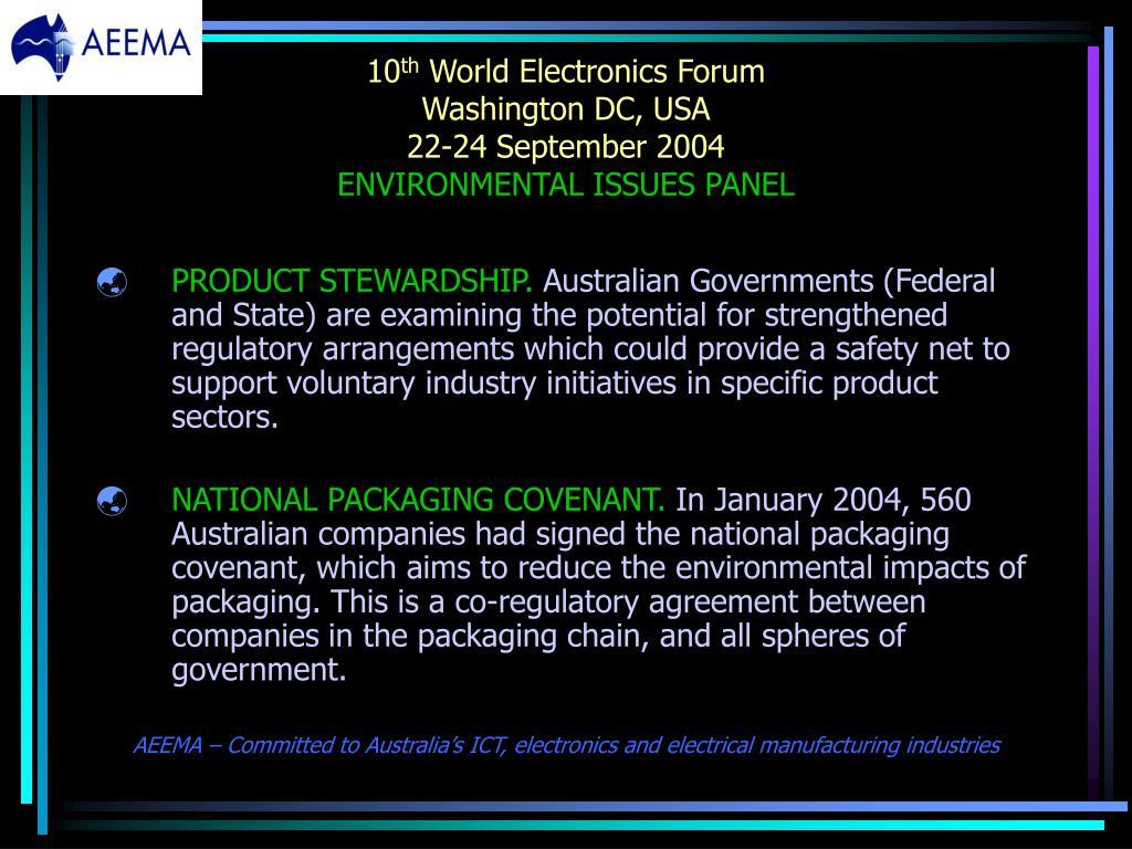 PPT - 10 th World Electronics Forum Washington DC, USA 22-24