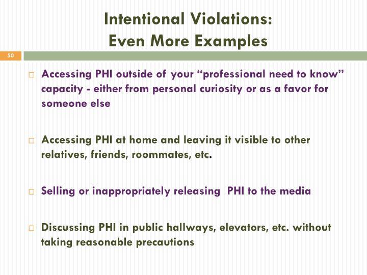 Intentional Violations: