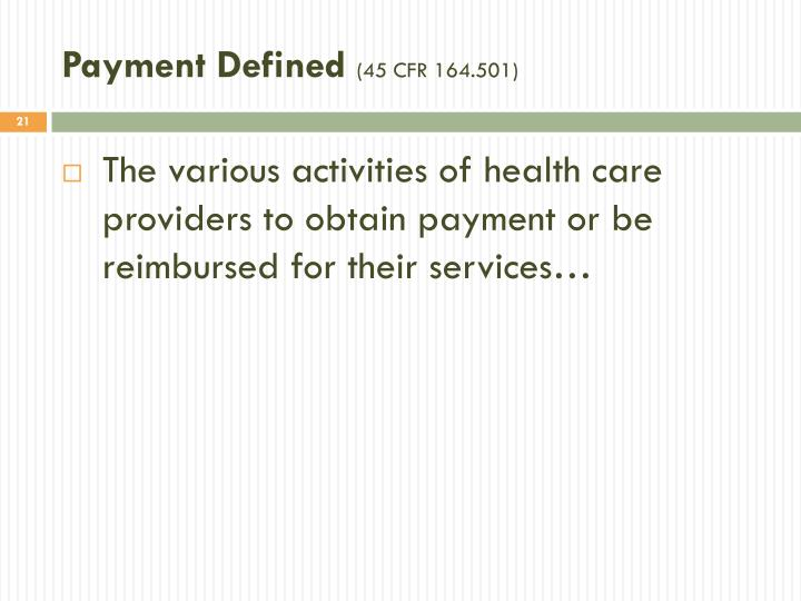 Payment Defined