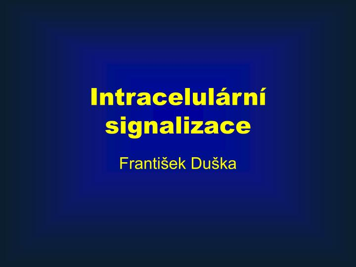 intracelul rn signalizace n.