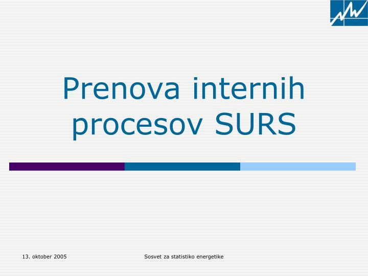 Prenova internih procesov SURS