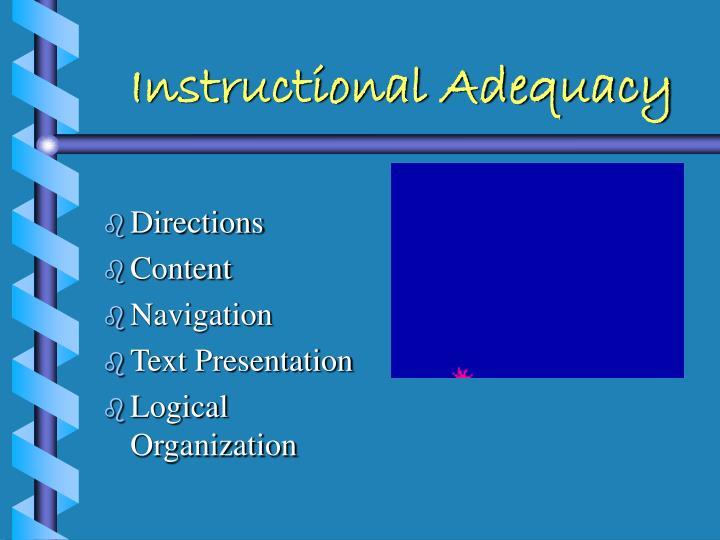 Instructional Adequacy