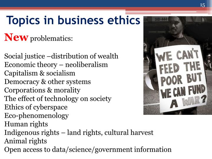 a change in business ethics the impact The difficult problems in business ethics occur when it is necessary to find a balance between profits and the broader social good 3 ethical factors effecting managerial decisions are classified in various levels.