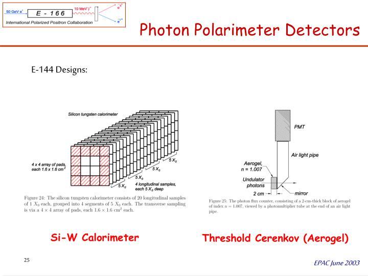 Photon Polarimeter Detectors