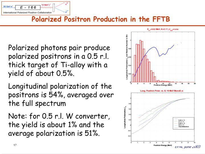 Polarized Positron Production in the FFTB