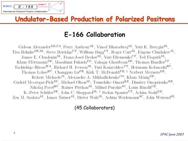 Undulator based production of polarized positrons