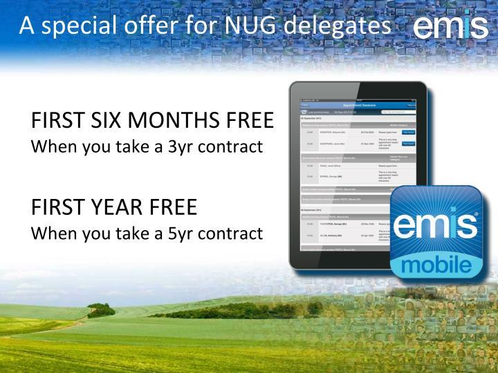 A special offer for NUG delegates