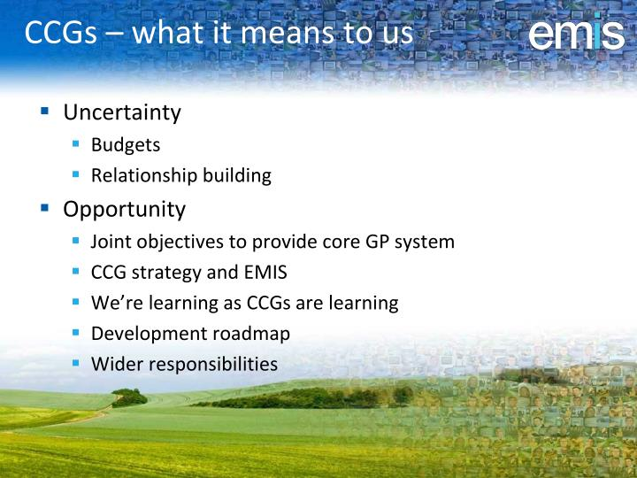 CCGs – what it means to us