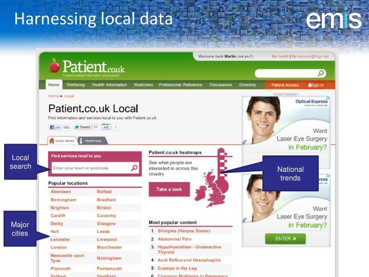 Harnessing local data