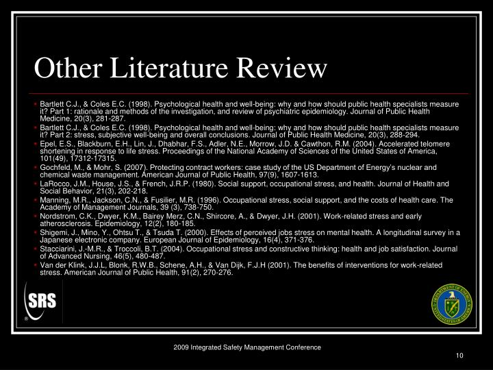 Other Literature Review