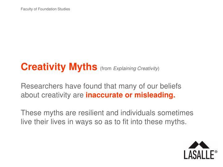 Creativity Myths