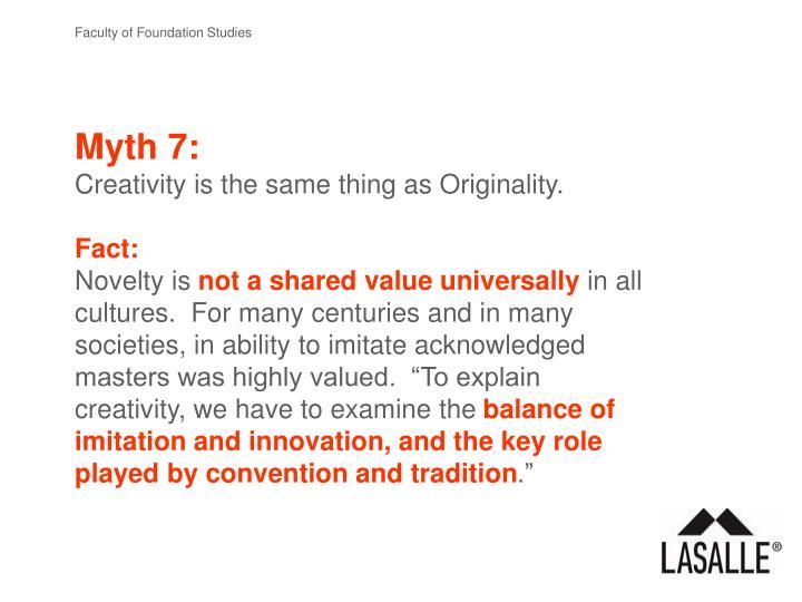 Myth 7: