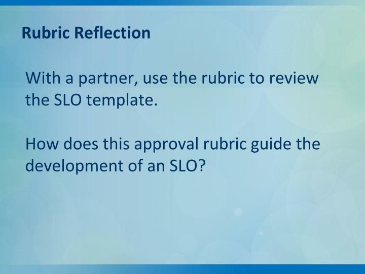 Rubric Reflection