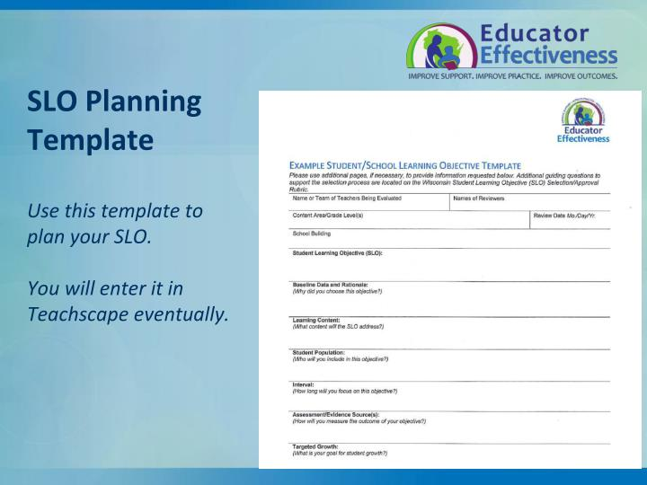 SLO Planning Template