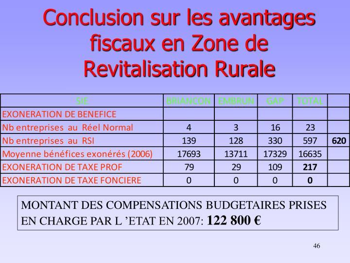 Conclusion sur les avantages fiscaux en Zone de Revitalisation Rurale