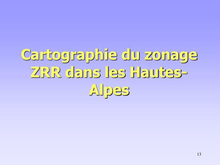 Cartographie du zonage ZRR dans les Hautes-Alpes