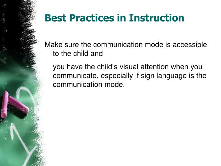 Best practices in instruction1