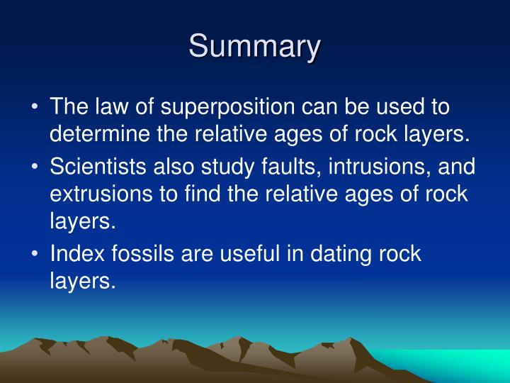 ages of rock layers