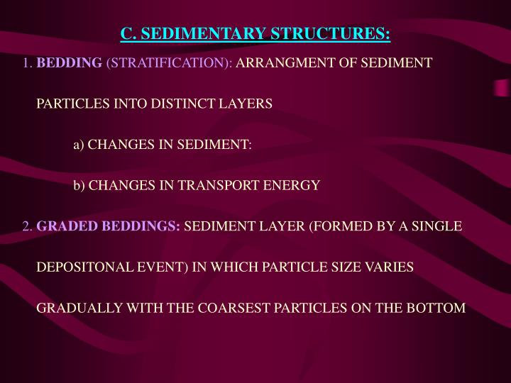 C. SEDIMENTARY STRUCTURES: