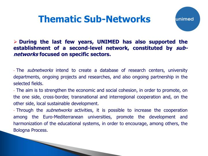 Thematic Sub-Networks