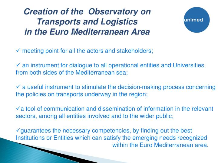 Creation of the  Observatory on