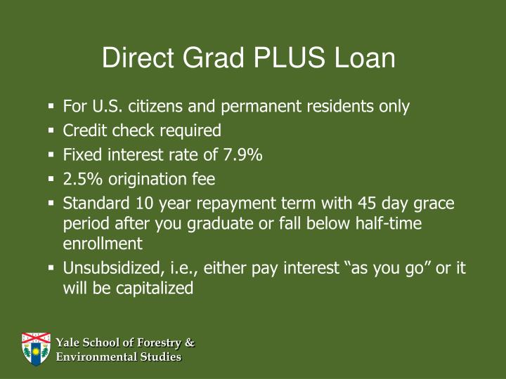 Direct Grad PLUS Loan